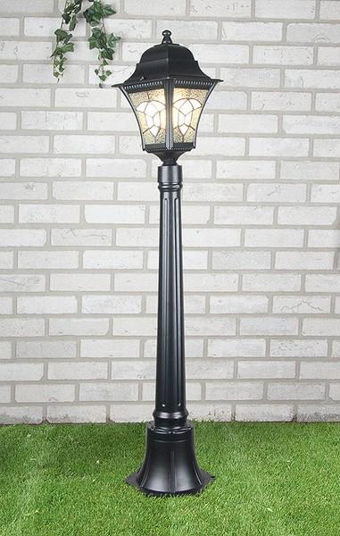 Уличный светильник Altair F черный (столб 1,2 м)  Е27 1*60W