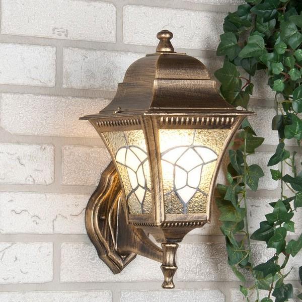 Уличный светильник Altair черное золото (стена) Е27 1*60W