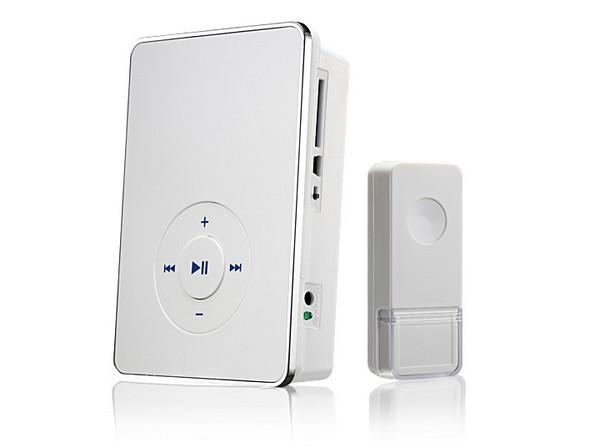 Звонок беспроводной 10 М DBQ WL MP3 16мелодий бел (200м) IP44