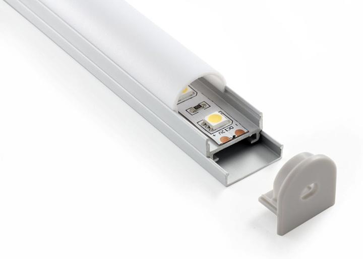 Профиль потолочный  для светодиодной ленты (20*19*2000мм)