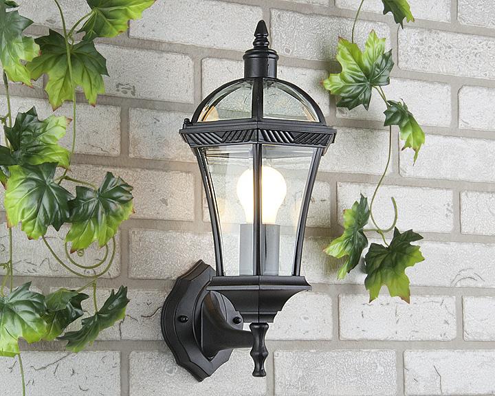 Уличный светильник Capella  черный (стена) Е27 1х60W