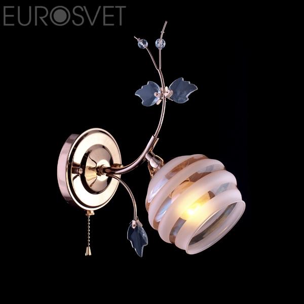 Настенный светильник 10505/1 золото коричневый