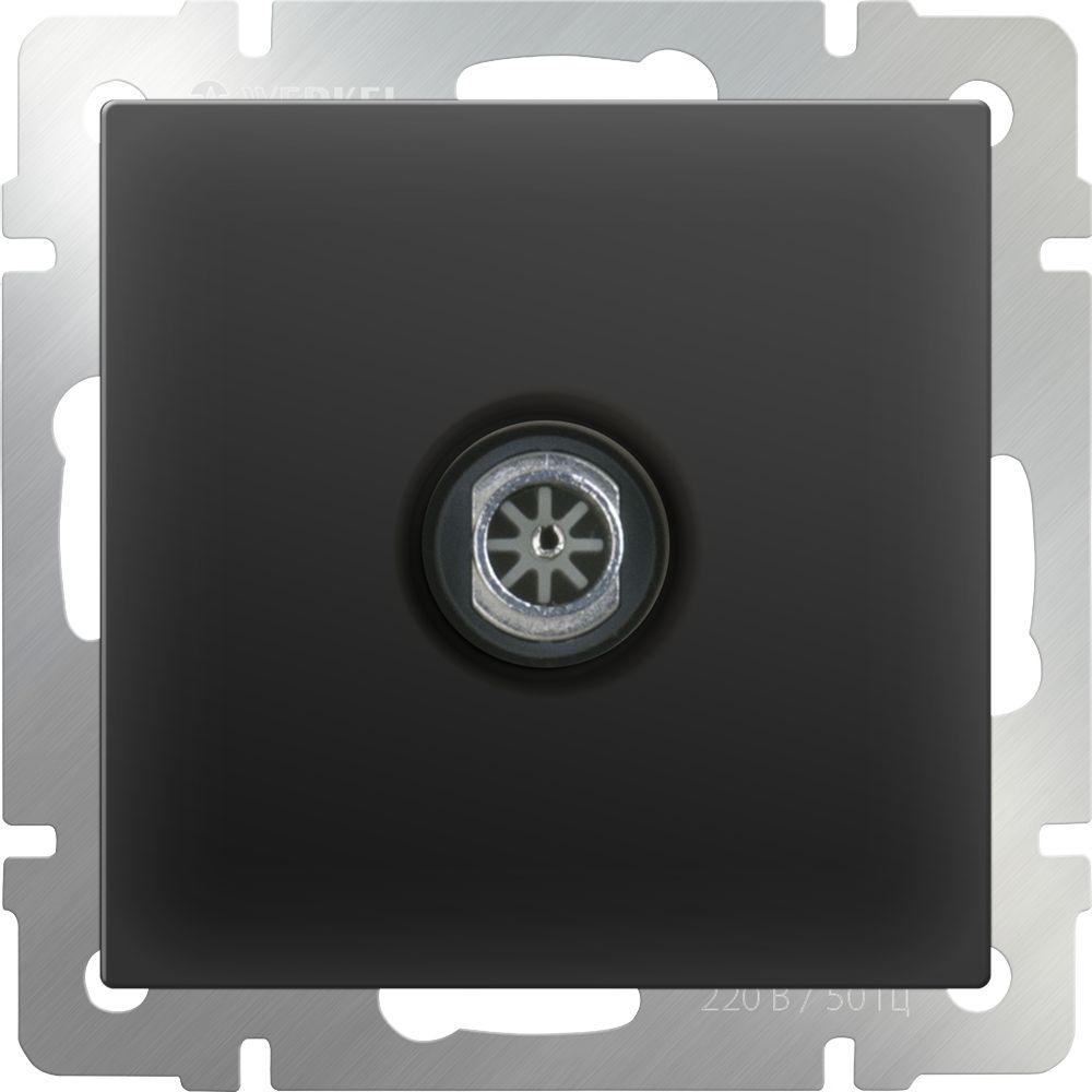 ТВ розетка оконечная (черный-матовый) /WL08-TV