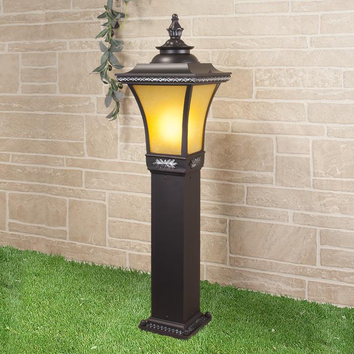 Уличный светильник - Libra F венге (столб) Е27 1*60W