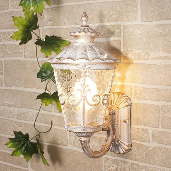 Уличный светильник GLYF-8046U (стена) белое золото 60Вт Е27