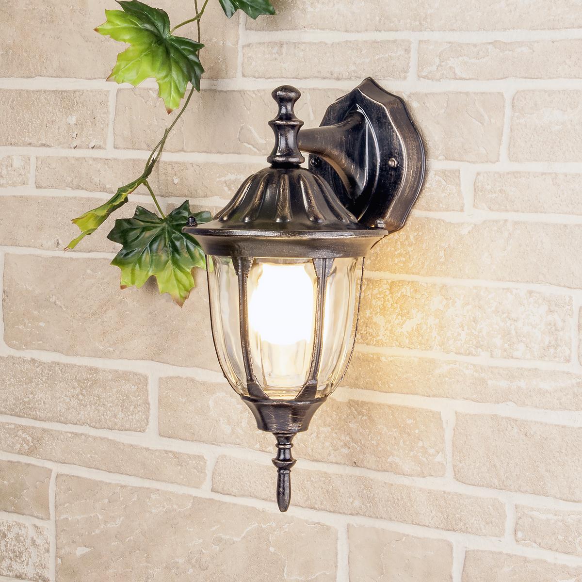 Уличный светильник GL 1002D черное золото (стена) Е27