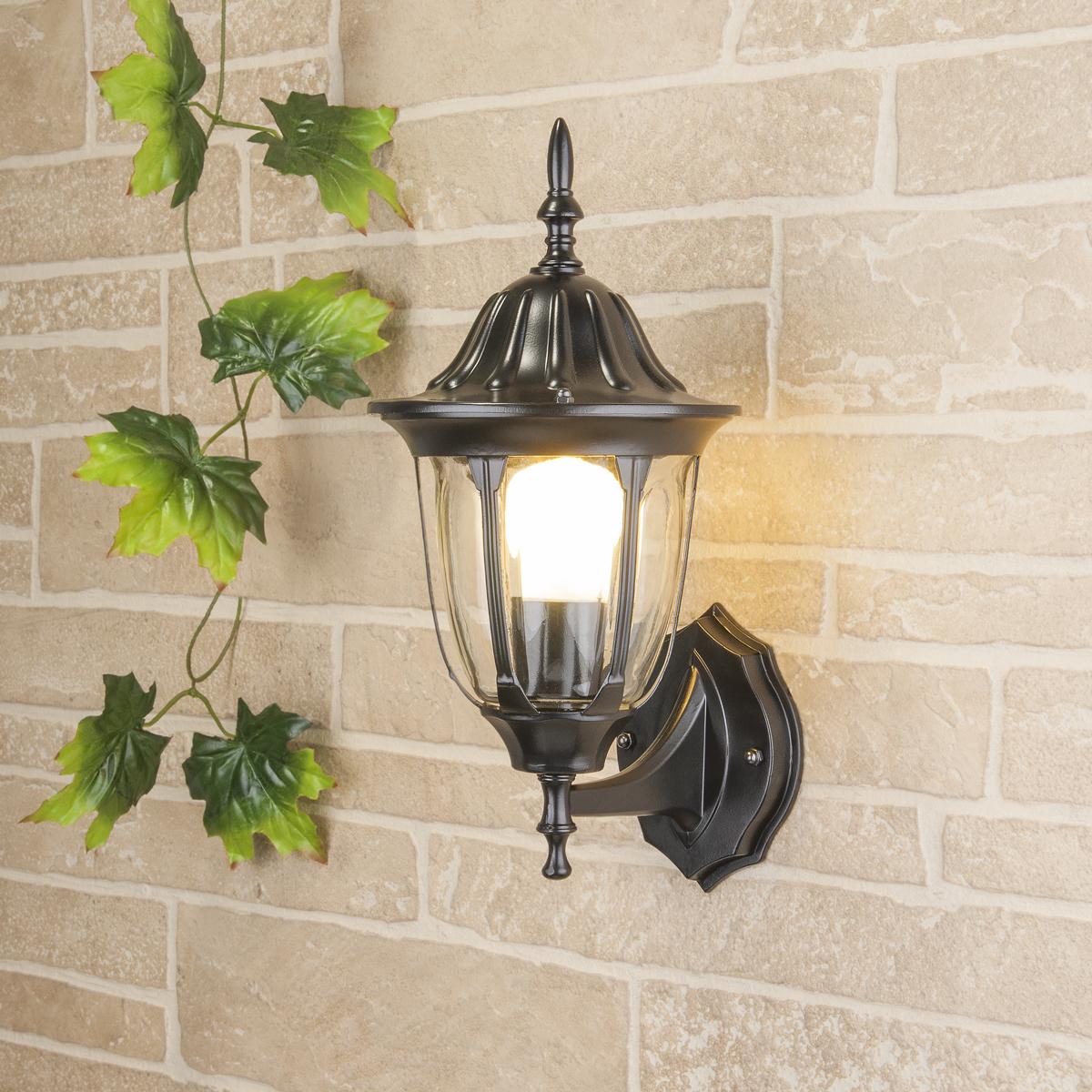 Уличный светильник GL 1002U черный (стена) Е27