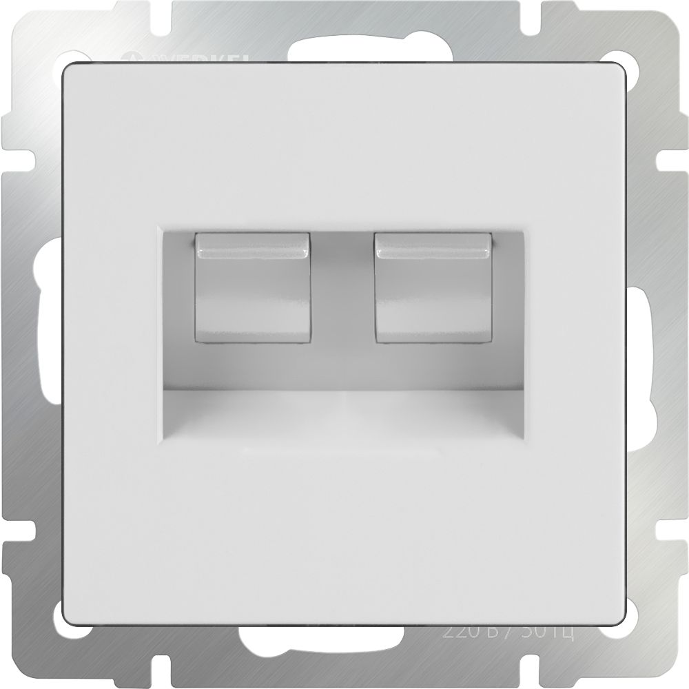 Розетка двойная Интернет RJ-45 (белая) /WL01-RJ-45+ RJ-45