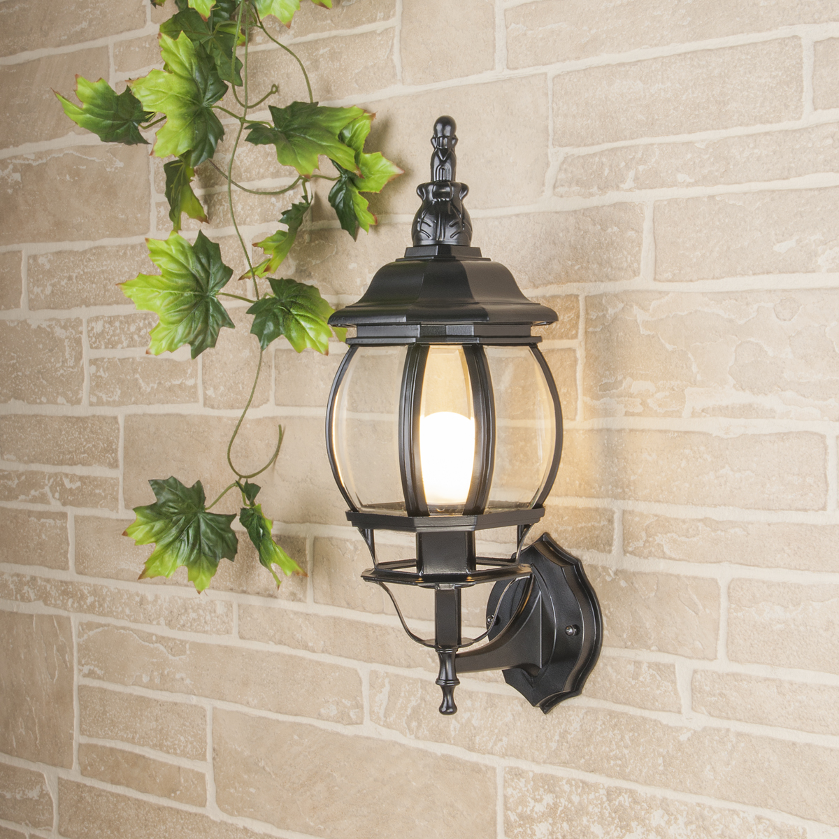 Уличный светильник GL 1001U (стена) черный