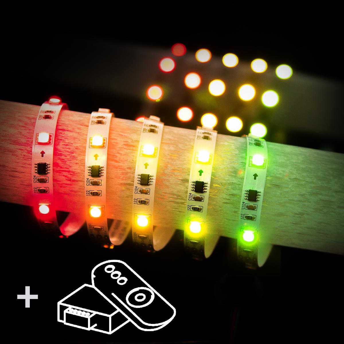Набор светодиодной подсветки 5м 7,2W RW IP20 бегущ.волна 12V