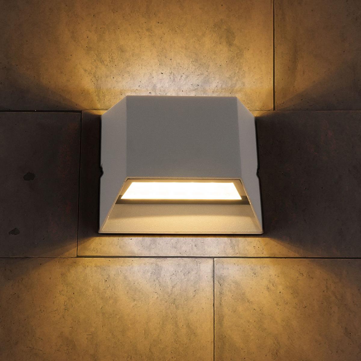 Уличный светильник - TECHNO 1615 LED алмазный серый