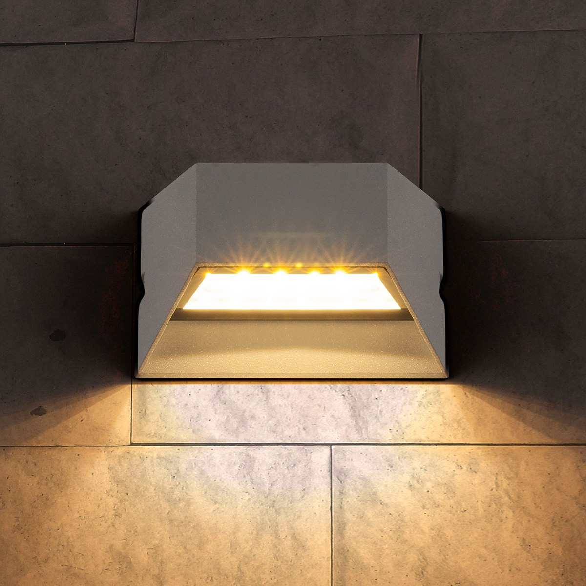 Уличный светильник - TECHNO 1614 LED алмазный серый