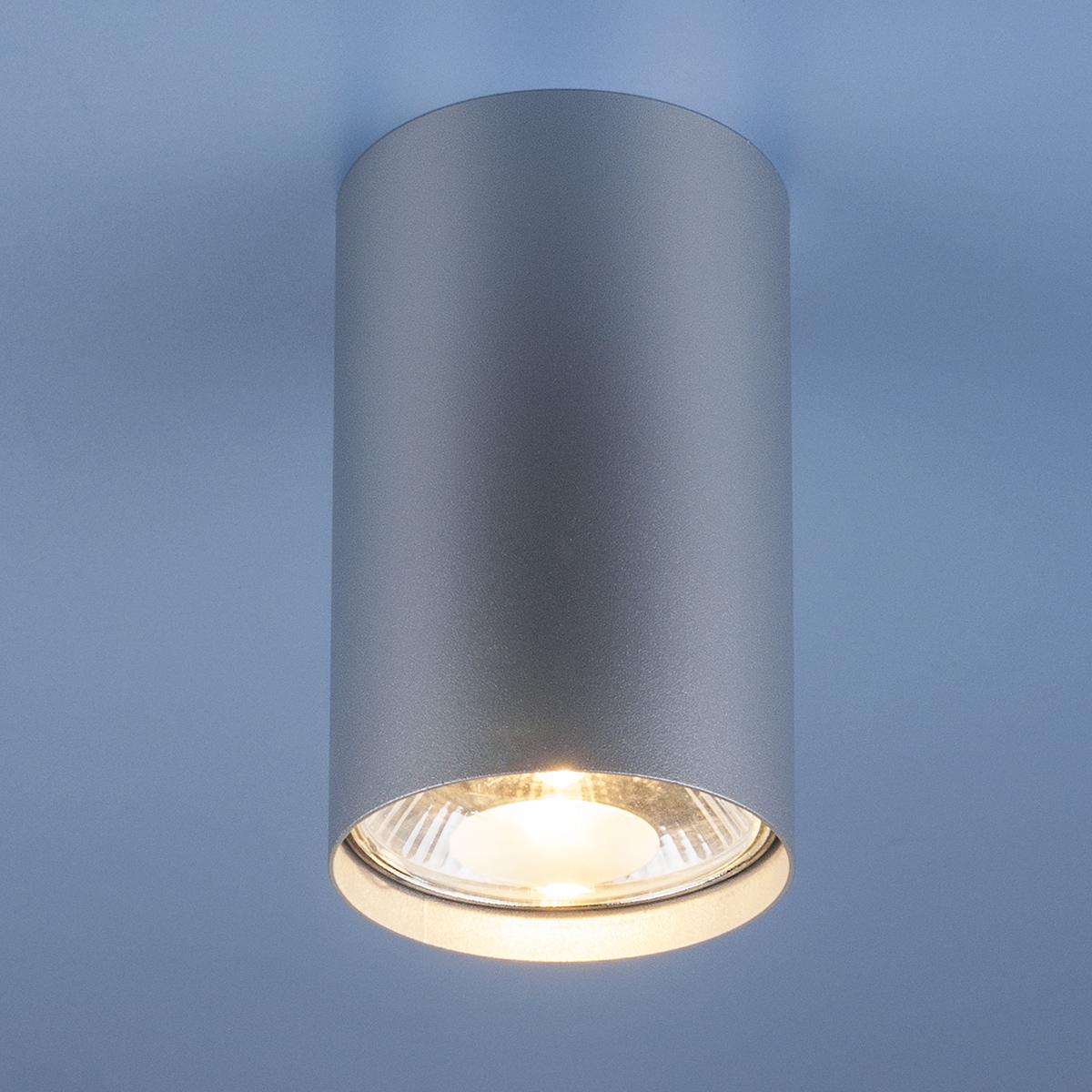 Накладной точечный светильник 6877 серебро
