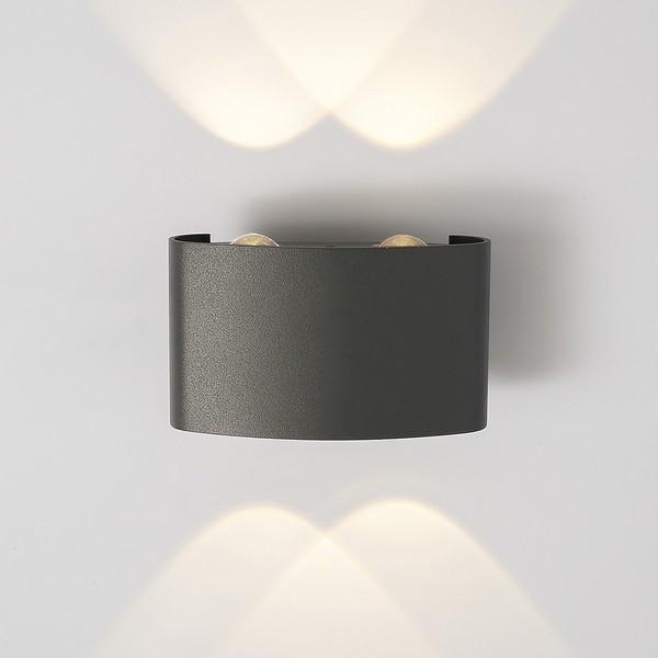 Уличный свет - 1555 TECHNO LED TWINKY DOUBLE серый