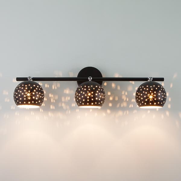 Настенный светильник с поворотными плафонами 20059/3 черный