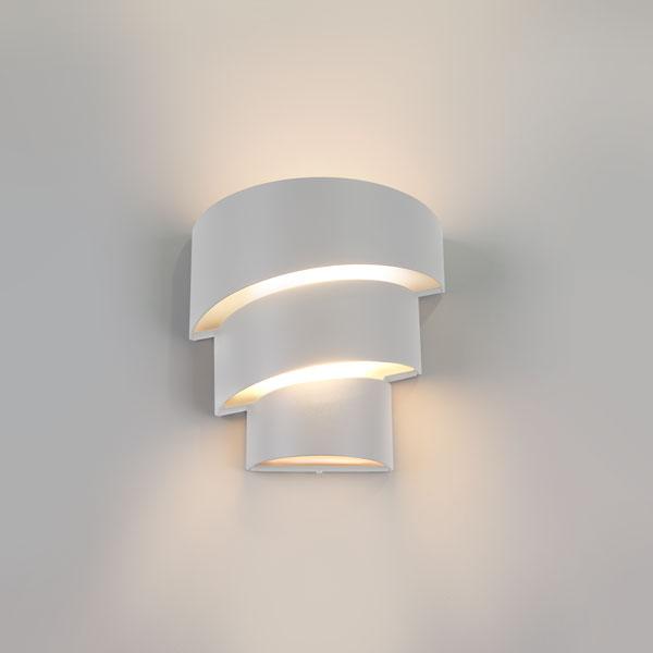 1535 TECHNO LED / Светильник садово-парковый со светодиодами HELIX белый матовый