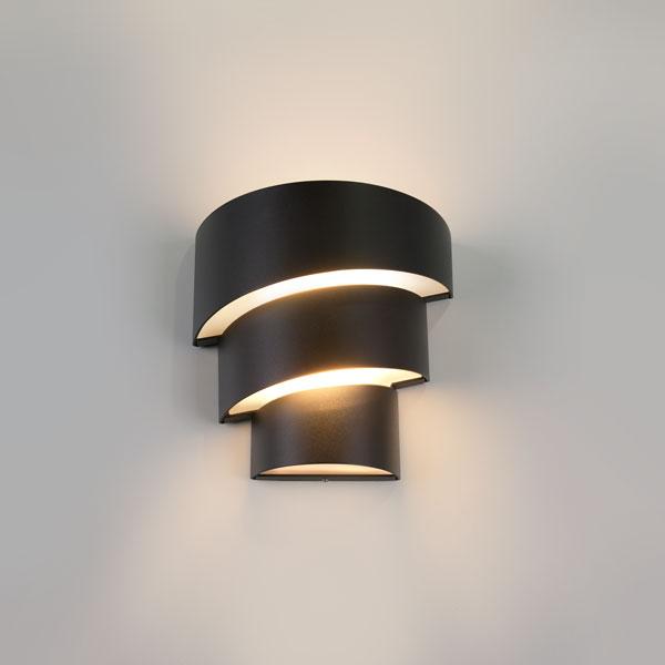 1535 TECHNO LED / Светильник садово-парковый со светодиодами HELIX черный матовый