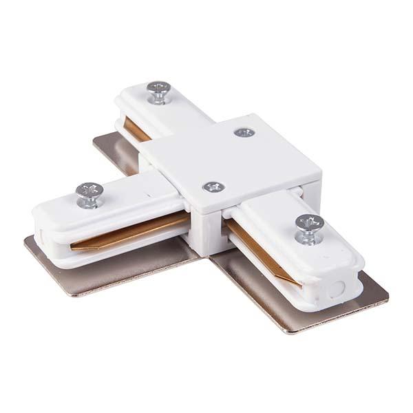 Коннектор Т-образный для однофазного шинопровода (белый) TRC-1-1-T-WH