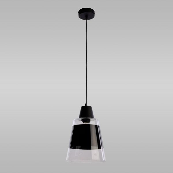 Подвесной светильник со стеклянным плафоном черный 915 Trick