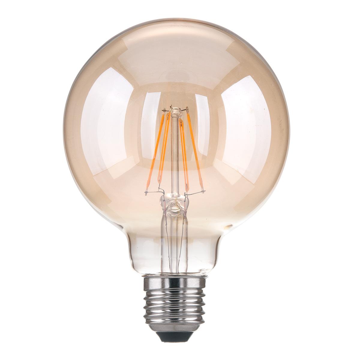 Лампа LED - Classic F 6W 3300K E27 (G95 тонированный)
