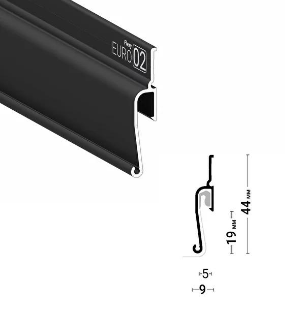 Багет стеновой Евро ПФ7206 черный, 2м
