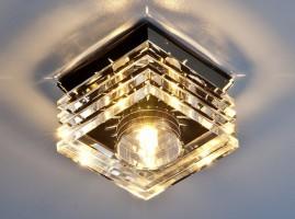 Светильник 495 G4 черный/прозрачный (Clear/BK) SC
