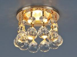 Светильник 2051-C MR16 KF золото/белый хрусталь (GD)