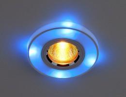 Светильник 2070/2 серебро/синяя подсветка (SL/BL/LED) SC