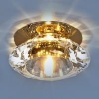 Светильник 8016 G4 золото/прозрачный (G/WH)
