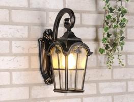 Уличный светильник Mira D черное золото (стена) Е27 60W