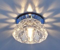 Светильник 6237 G9 зеркальный/синий