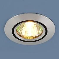 Светильник 5106 MR 16 сатин серебро/черный