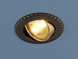Светильник 635  MR16 черный/золото