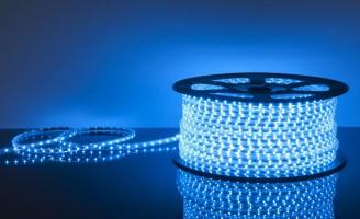 Светодиодная лента 220 V 60 Led 3528 4,4W IP65 синий