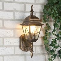 Уличный светильник Vega U черное золото (стена)  Е27 60W
