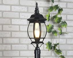 Уличный светильник 1043 черный (на столб)  Е27 1*100W