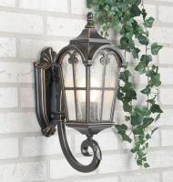 Уличный светильник Mira U черное золото (стена) Е27 60W