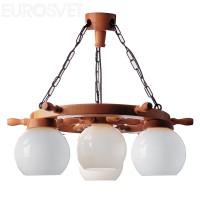 Подвесной светильник 80 дуб  светл.  4*60Вт Е27