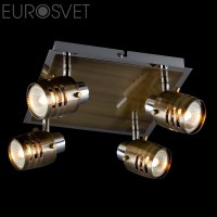Потолочный светильник 23463/4*50Вт. хром/античная бронза G5.3