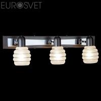 Настенный светильник 72804/3*40Вт. хром/венге Е14