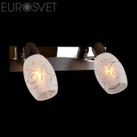Настенный светильник 60301/2*40Вт. хром/венге Е14