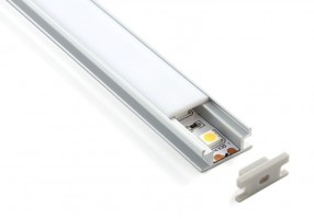 Профиль встраиваемый напольный алюминиевый для светодиодной ленты LL-2-ALP002 (8*19*2000мм)