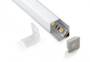 Профиль квадрат угловой для светодиодной ленты (16*16*2000мм)