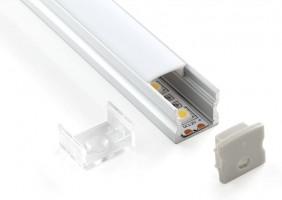 Профиль накладной для светодиодной ленты (15*17*2000мм)