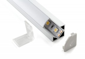 Профиль угловой  для светодиодной ленты (18*18*2000мм)