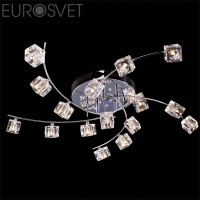 Люстра 4976/16 хром LED син-красн-фиол  ПДУ G4