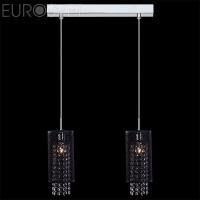 Подвесной светильник 1180/2 хром/черный 60Вт. Е14