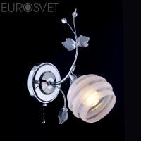 Настенный светильник 10505/1 хром белый