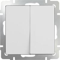 Выключатель 2клавишный проходной (белый) /WL01-SW-2G-2W