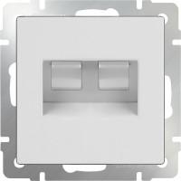 Розетка телефонная RJ-11 и Интернет RJ-45 (белая) /WL01-RJ-11-45